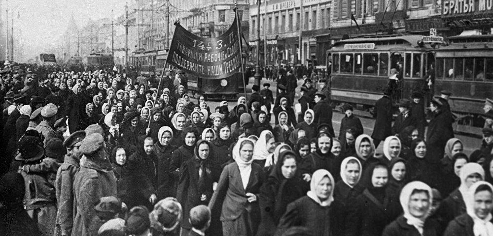 Женская манифестация на улицах Петрограда, 23 февраля (8 марта) 1917 года