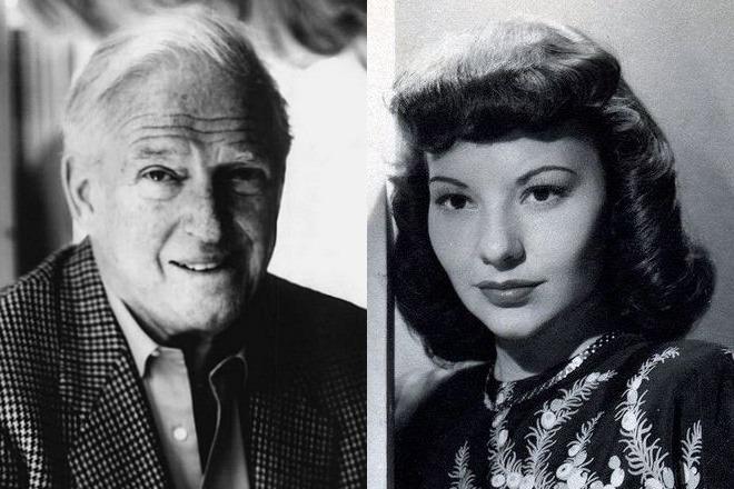 Сидни Шелдон и его вторая жена Джорджия Картрайт