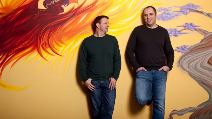Брайан Эктон и Ян Кум в офисе  • Advorts.ru