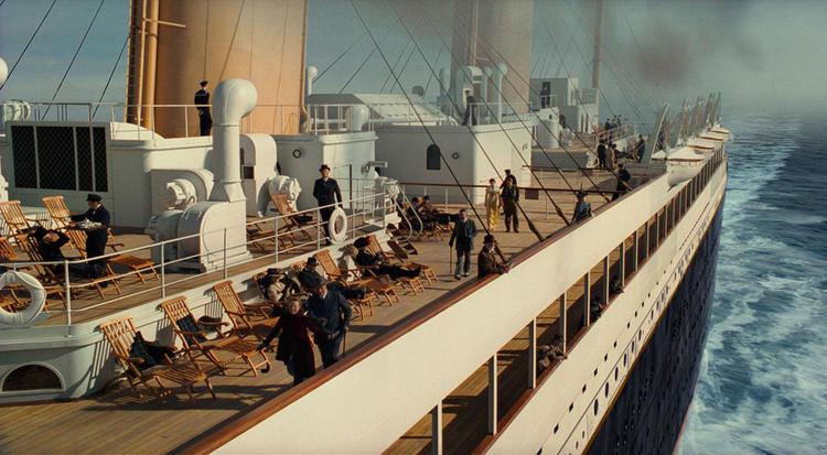 Так выглядела палуба первого класса «Титаника»: кадр из фильма Джеймса Кэмерона
