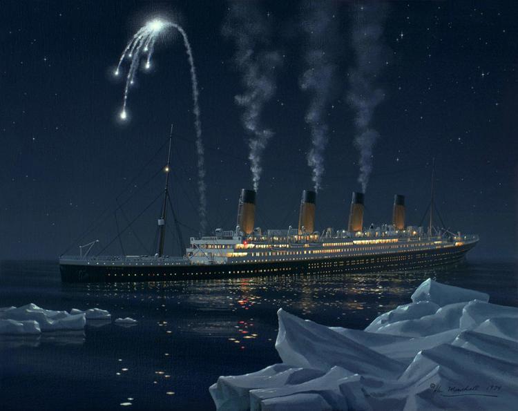На «Титанике» запускали белые сигнальные ракеты — на «Калифорниэне» думали, что это праздничный салют