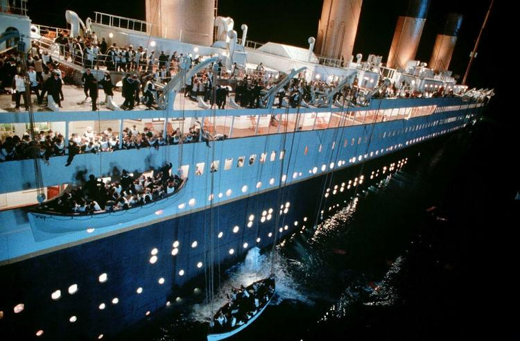«Титаник»: спуск шлюпок на воду