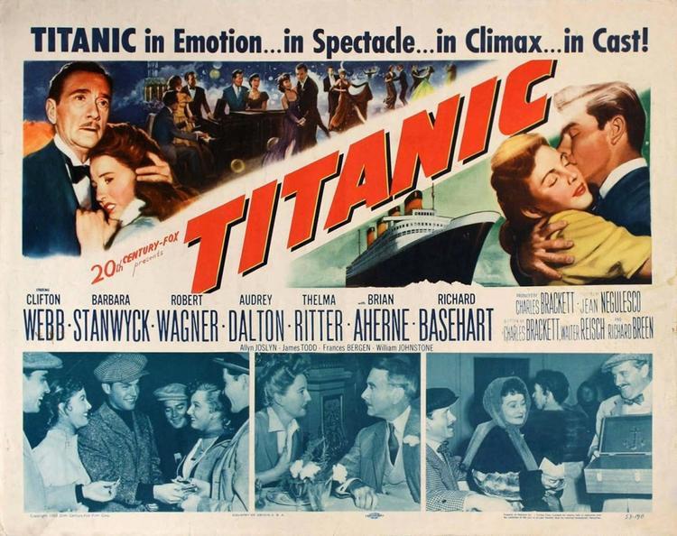 Постер фильма «Титаник» 1953 года