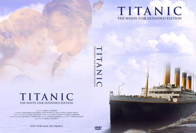 Обложка DVD фильма Джеймса Кэмерона «Титаник»