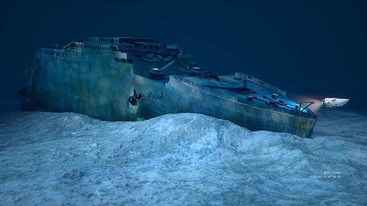 Крупный обломок «Титаника» на океанском дне
