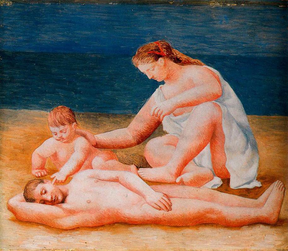 Пабло Пикассо. Семья на море