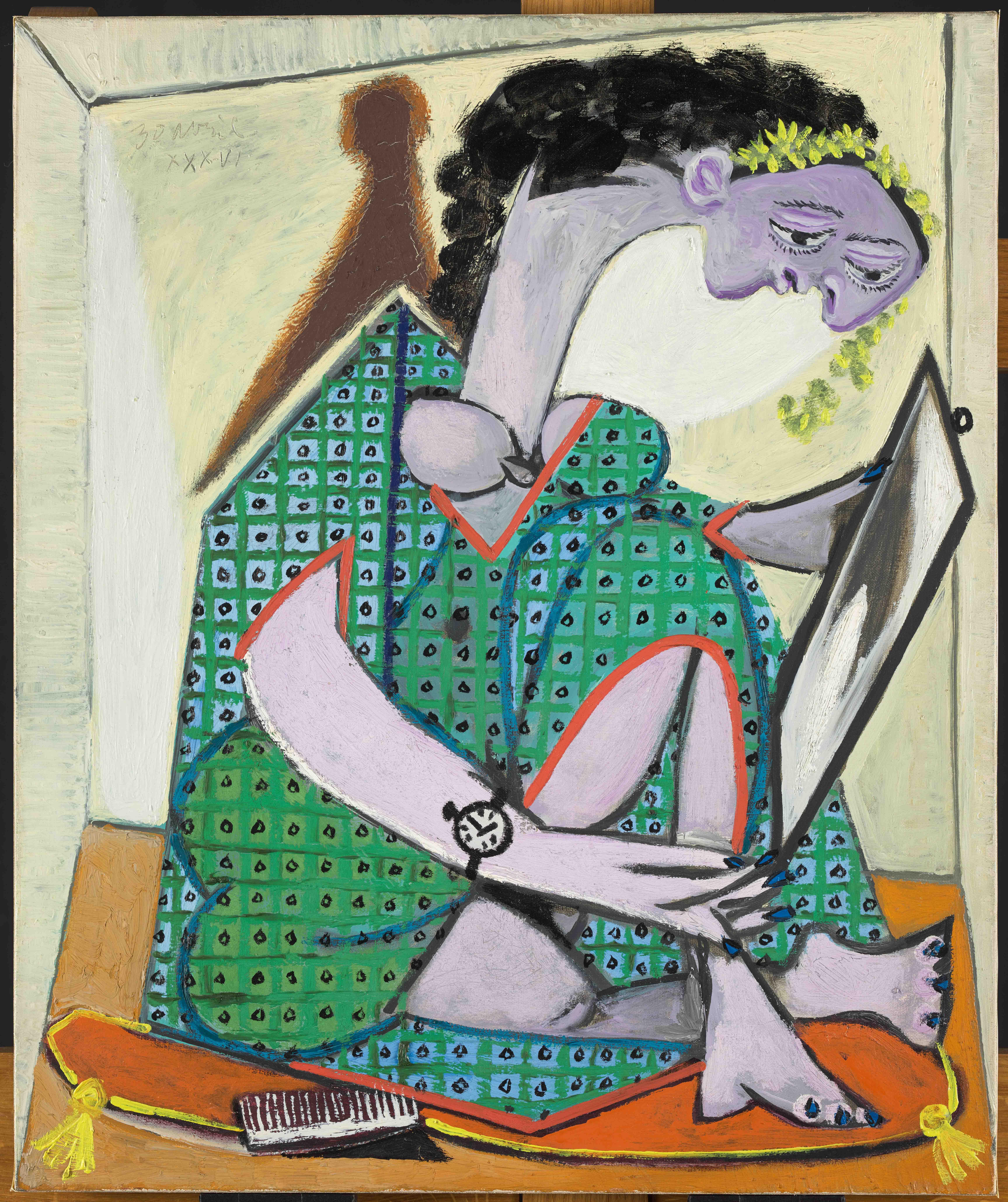 Пабло Пикассо. Женщина счасами. Жуан-ле-Пен, . Национальный музей Пикассо, Париж