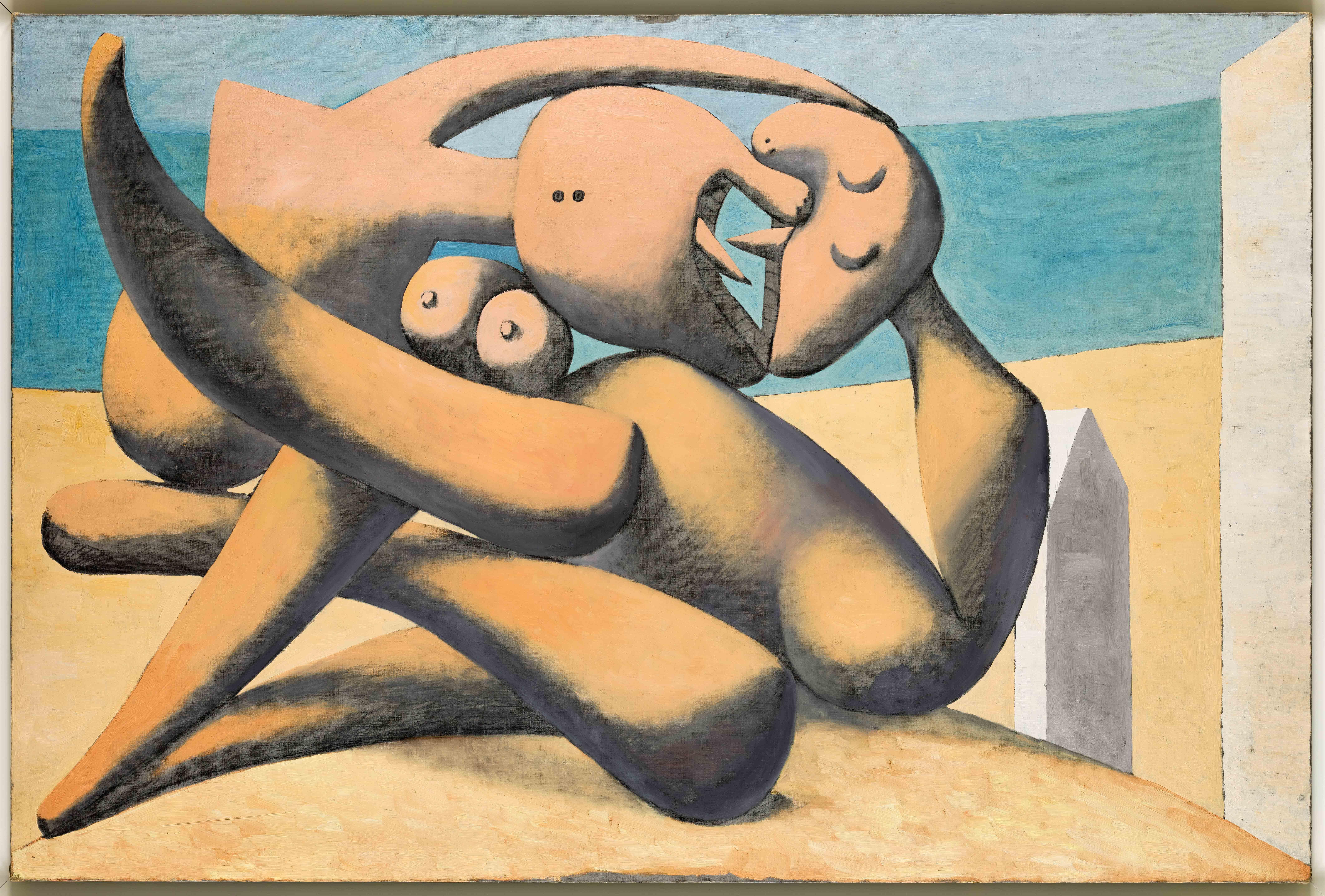 Пабло Пикассо. Фигуры наберегу моря. . Национальный музей Пикассо, Париж