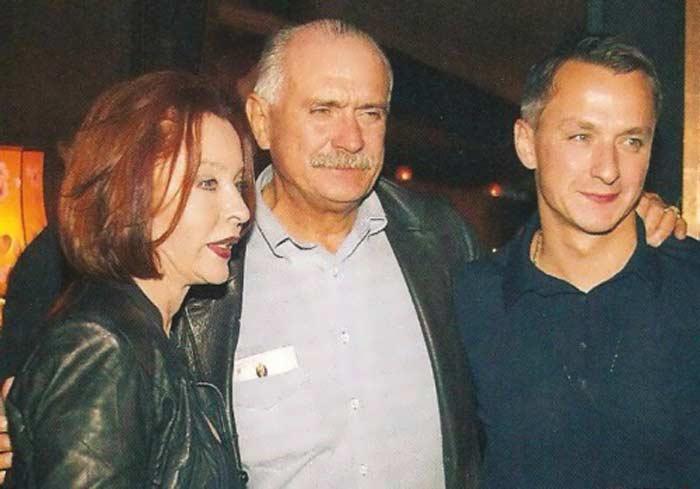 Анастасия Вертинская и Никита Михалков с сыном Степаном