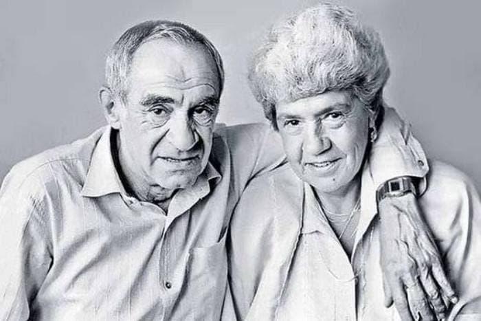 Зиновий Гердт с женой
