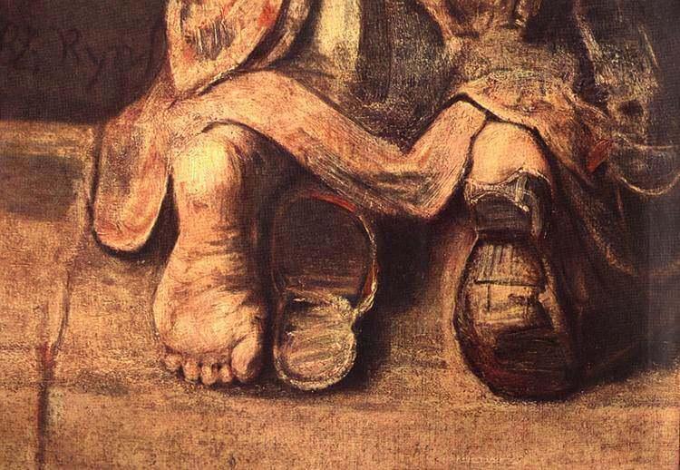 Рембрандт Блудный сын фрагмент