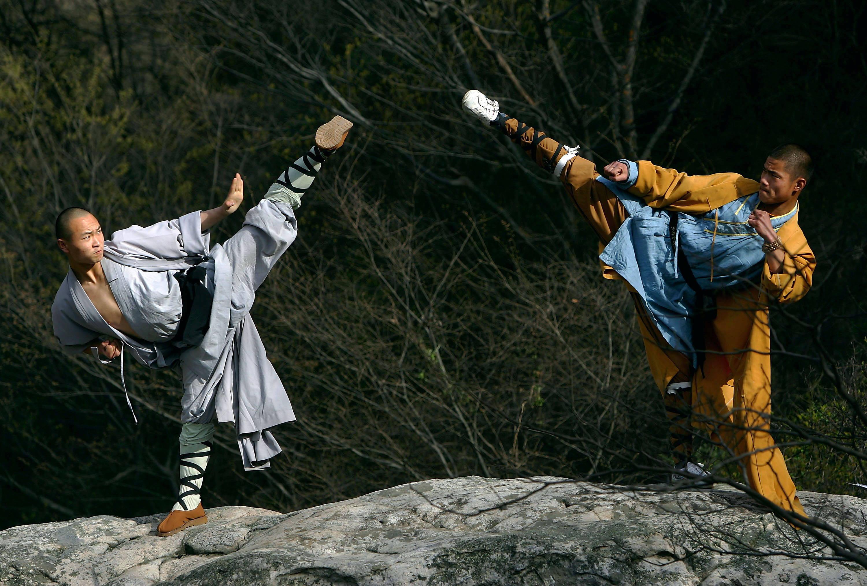 Монахи храма Шаолинь