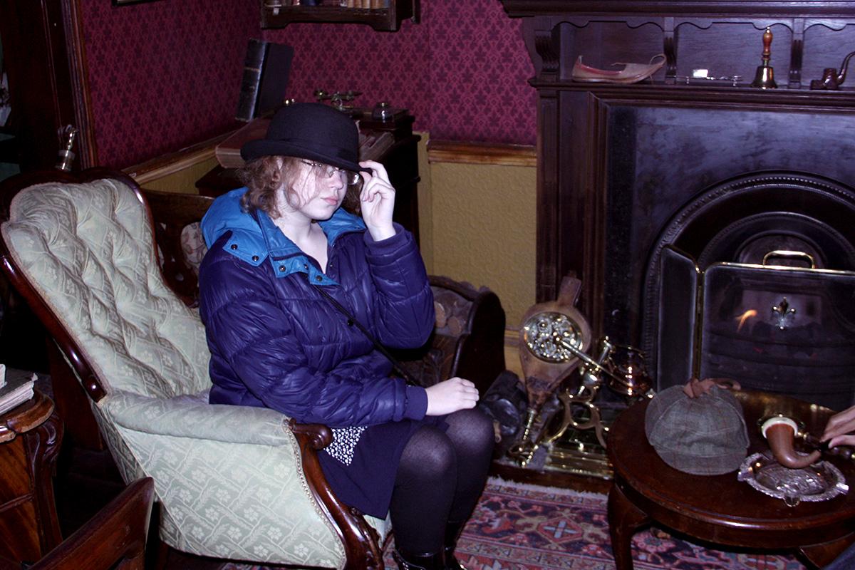 Фотография из Музея Шерлока Холмса в Лондоне