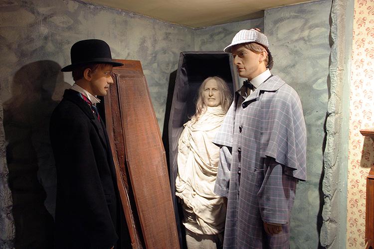 Восковые фигуры в Музее Шерлока Холмса в Лондоне