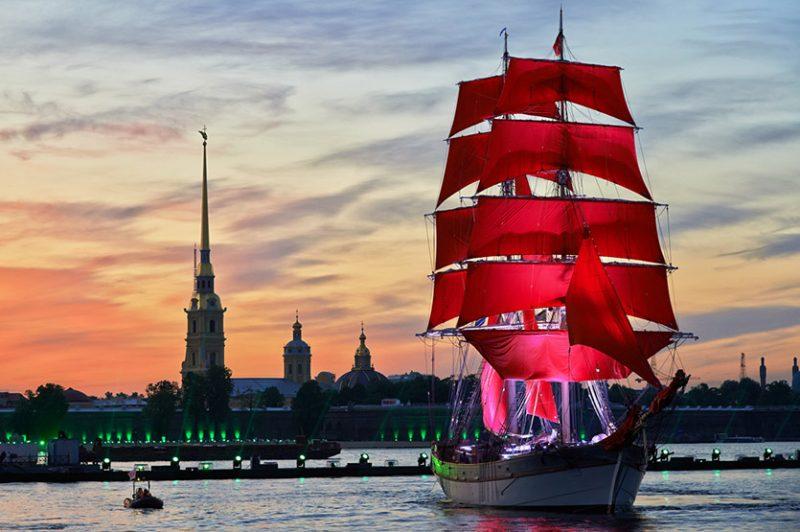 Праздник «Алые паруса» в Санкт-Петербурге