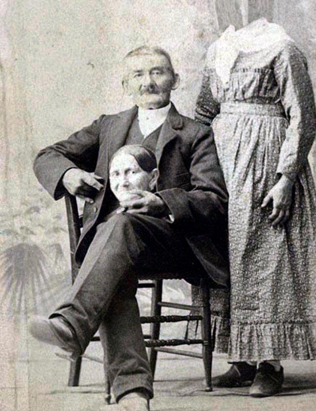 Викторианский безголовый портрет
