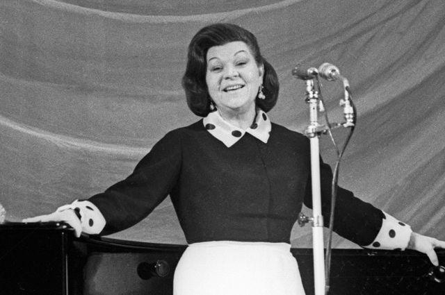 Клавдия Шульженко. 1965 год.