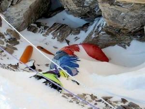 Погибший альпинист на Эвересте