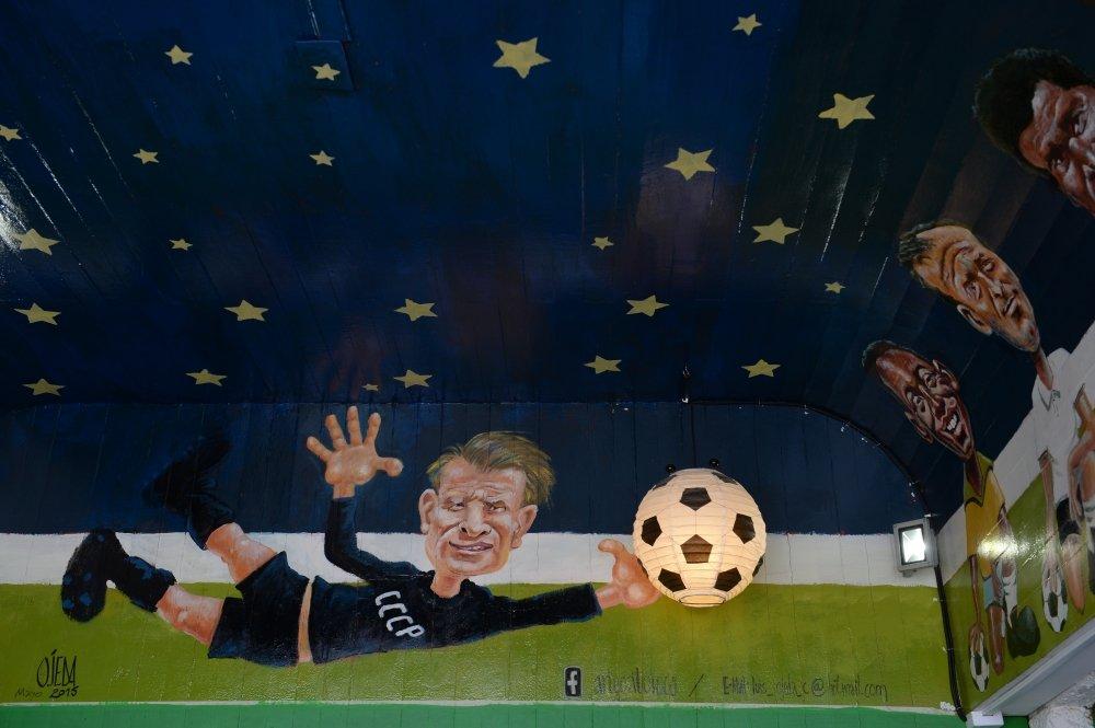 Рисунок 5. Добрая карикатура в чилийском спортивном кафе