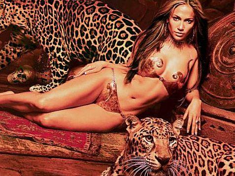 Дженнифер Лопез с тиграми