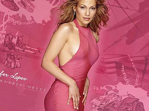 Дженнифер Лопез в розовом
