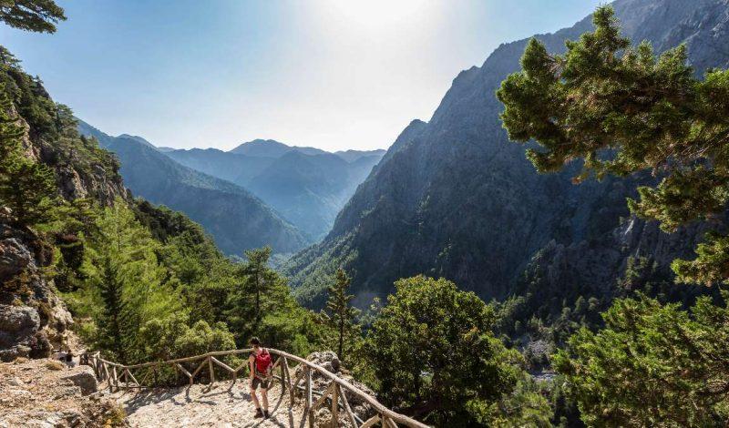 Самое длинное ущелье в Европе Самария на острове Крит
