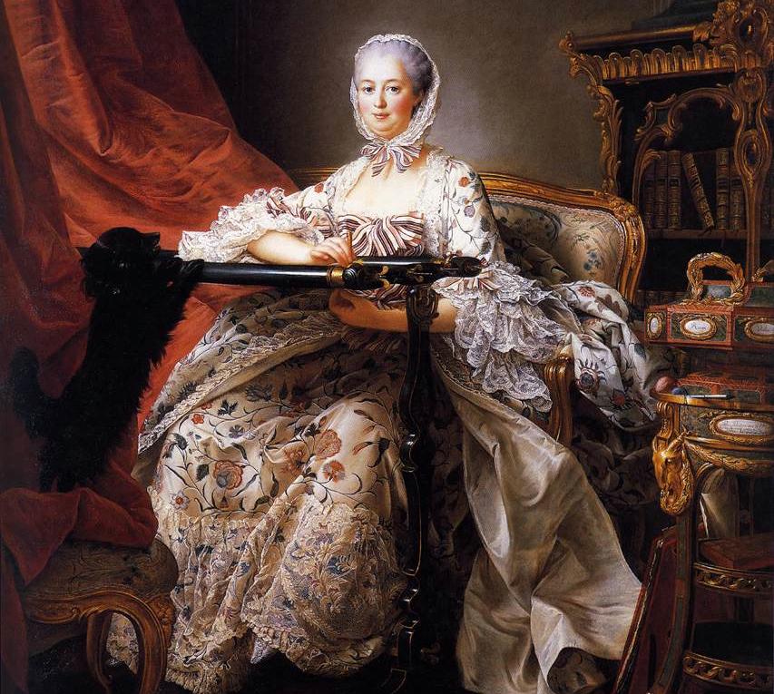 Портрет мадам Помпадур, художник Франсуа-Юбер Друэ, 1763-1764 гг.