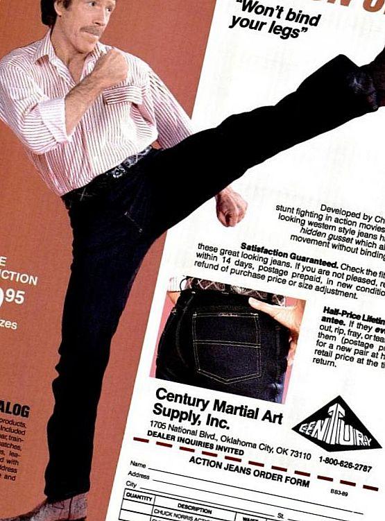 Чак Норрис представил оригинальную линию джинсов
