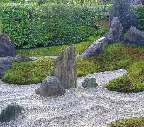 Пример использования камней для сада