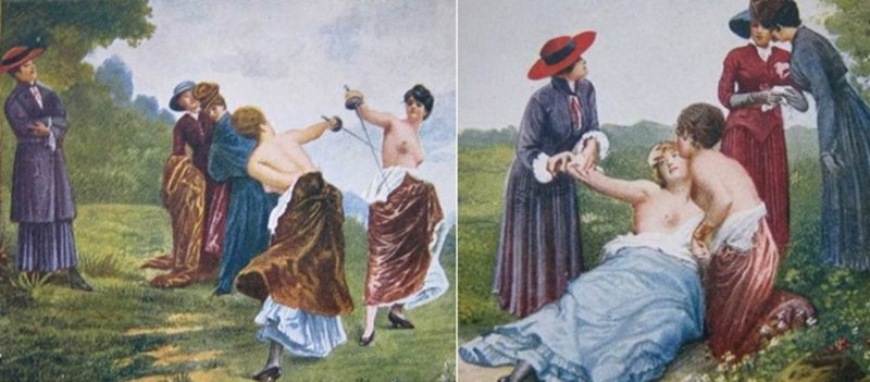 Смерть во время женской дуэли